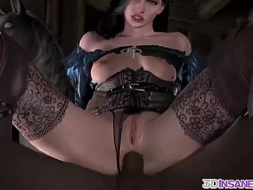 Stunning brunette fuck doll gets hammered